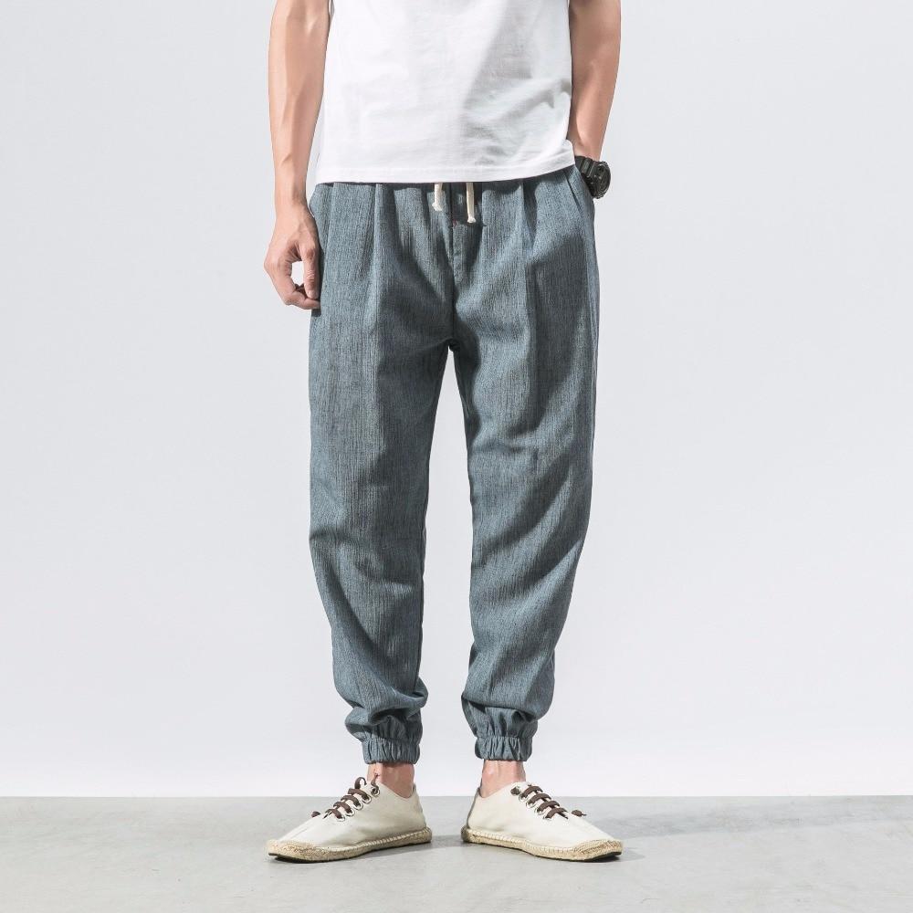 Detail Feedback Questions about PADEGAO Japan style linen mens harem pants  Jogger Pants Fitness Trousers Loose Casual Harajuku hippie pants Boho Harem  Pants ... 89b7b6c5c655