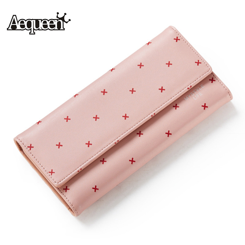 AEQUEEN Girl Purse Long Wallet Womens PU Leather Coin Purses Lady Clutches Cute Wallets Credit Card Holders Girls Purse Pouch