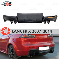 Diffuser for Mitsubishi Lancer X 2007 2014 on rear bumper plastic ABS accessories car styling body kit decoration tuning