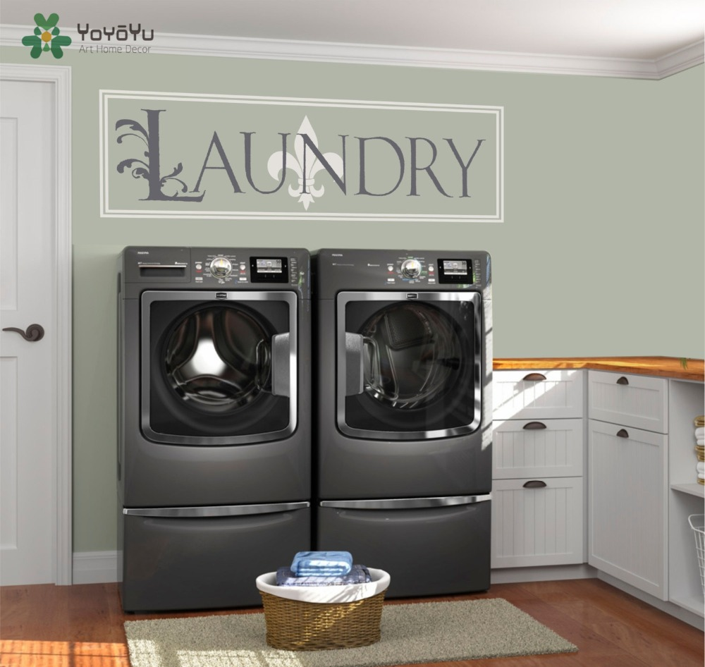 Laundry Room Art Decoration Home House Decor Design Removable Wall Paper Mouse Over To Zoom In