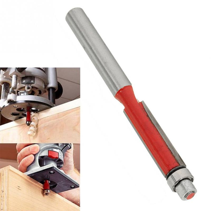1 Pc Woodworking Trimming Cutter Head 1/4' End Wood Edge Milling Cutter Alloy Carving Bearing Cutter Bit Hand Tools