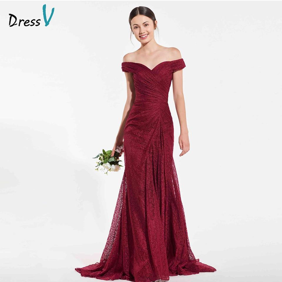Dressv elegant rust red mermaid   bridesmaid     dress   off the shoulder draped wedding party women floor length   bridesmaid     dress