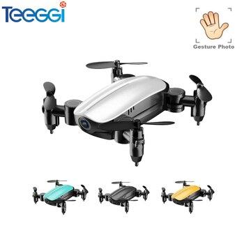 Teeggi T10 Mini Drone con/sin cámara HD plegable RC cuadricóptero de altitud sostener helicóptero WiFi FPV Micro bolsillo Selfie dron