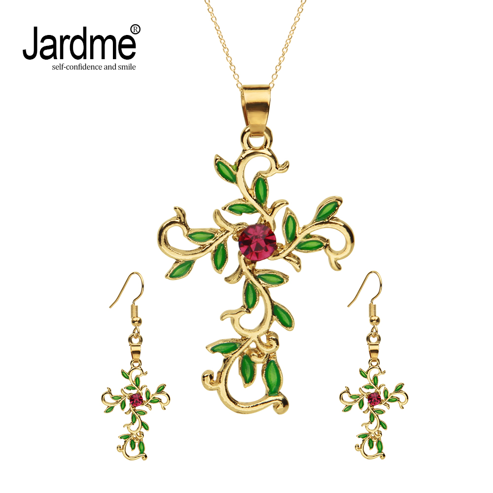 Jardme Vintage Pendant Necklace and Earrings Jewelry Sets God We Trust Cross Pendant Necklace Jewelry Gift for Women new russian keyboard for asus n76 n76v n76s n76vm n76vb n76vj n76vz ru laptop keyboard with backlit palmrest upper