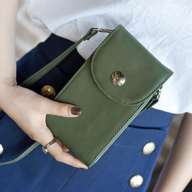 Women Small Shoulder Bag Black Simple Ladies Strap Mobile Phone Bag Mini  Crossbody Purse And Handbag 44ae6cbfa2a97