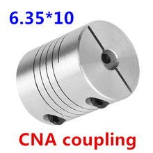 4pcs BR 6.35mm x 10mm D25 L30 CNC Stepper Motor Shaft Coupler Flexible Coupling 6.35x10mm Motor Connector 6.35*10mm