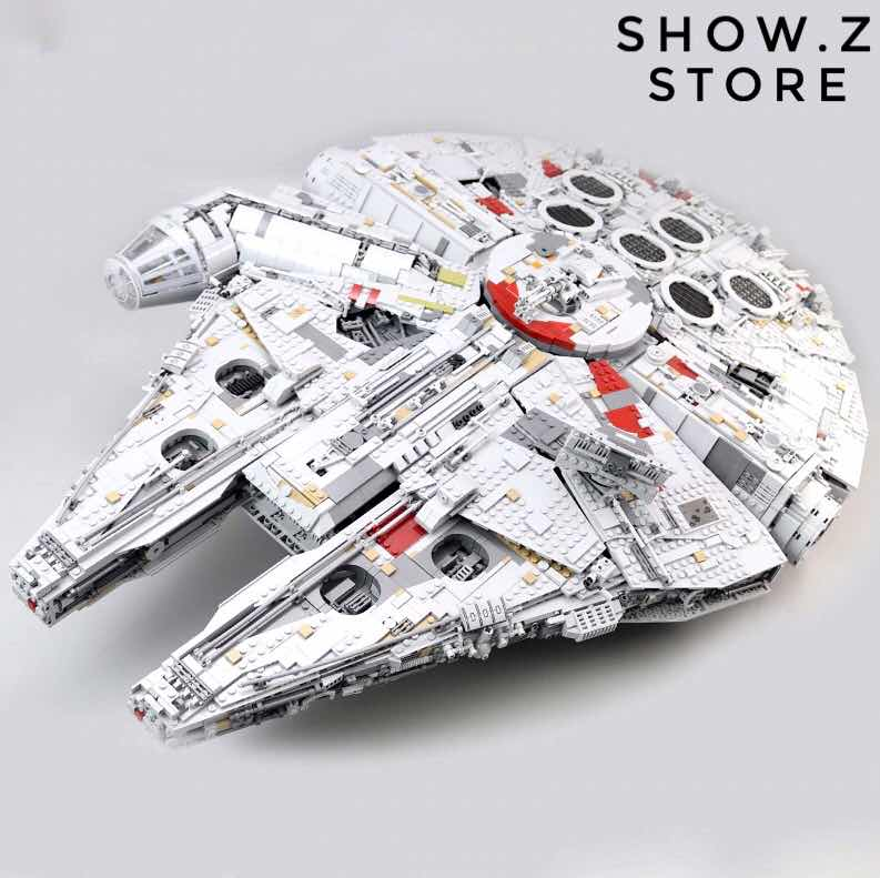[Show.Z Store][No Box] Lepin 05132 Ultimate Millennium Falcon 75192 8445Pcs Star Wars Series The Force Awake Block Action Figure цена