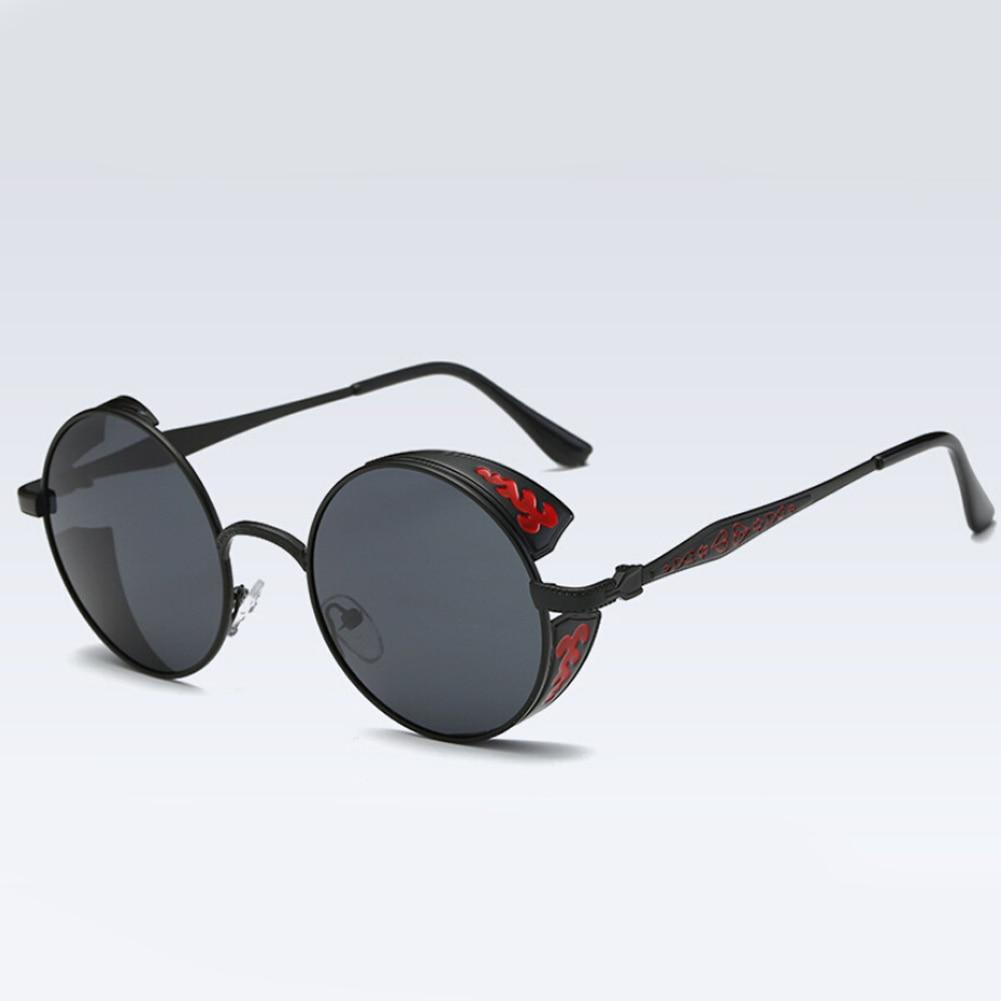 Lente Círculo Do Punk Do vapor Rodada de Metal Óculos De Sol Das Mulheres  Rodada Óculos de Sol 7 Cores Homens Óculos Vintage Retro efe45a8d57