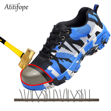 Steel Toe Work Safety Shoes Casual Breathable Outdoor Sneakers Puncture Proof Boots Comfortable Industrial shoes for men