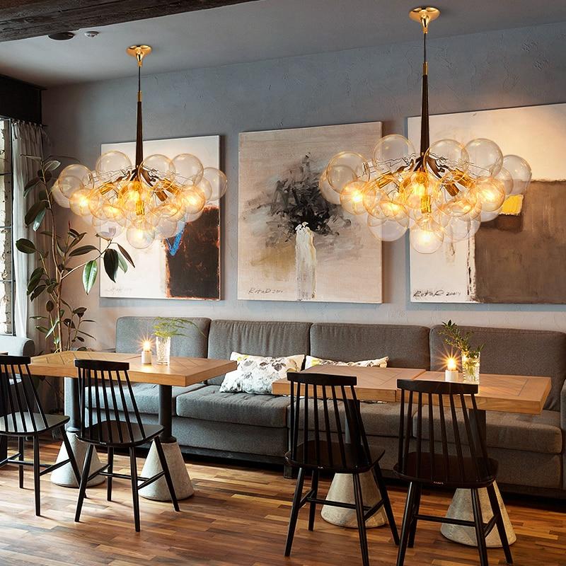 Led Postmodern Iron Gl Bubbles Designer Lamp