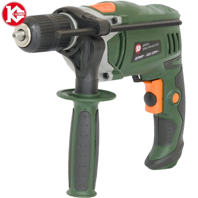 Impact electric drill Kalibr DEMR-820ERU+ 820W, 0-2700RPM multifunction 10a 220v 820w reversible pistol electric drill shipping by express
