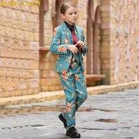 Костюм на свадьбу для мальчика, костюм на выпускной вечер для девочек Нарядные Костюмы для свадьбы детей tuexdo большие дети Костюмы Комплект
