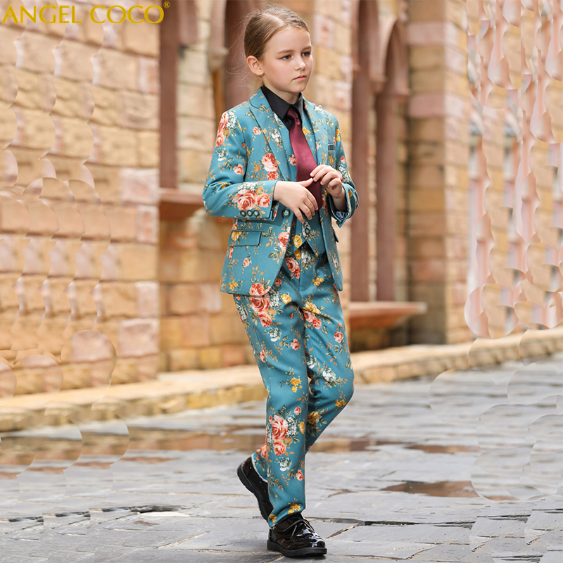Boys suits for weddings Kids Prom Suits Girls Wedding Suits Kids tuexdo Big Children Clothing Set Boy Formal Classic Costume