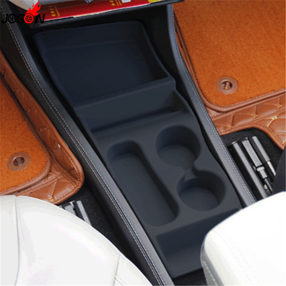 Rubber Interior Central Center Console Armrest Panel Box Container Storage Organizer For Tesla Model S Model