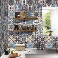 5M PVC Self Adhesive Tiles Floor Wall Stickers Mosaics Art Decal Waterproof Kitchen Home Room DIY