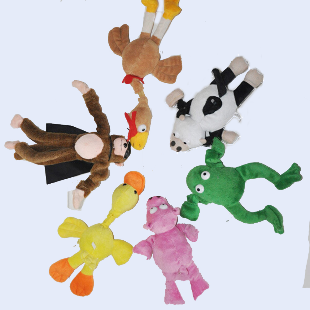 1pc Soft Cute Children Boy Girl Child Kids plush Slingshot Screaming Sound Mixed for Choice Plush Flying Monkey Toy