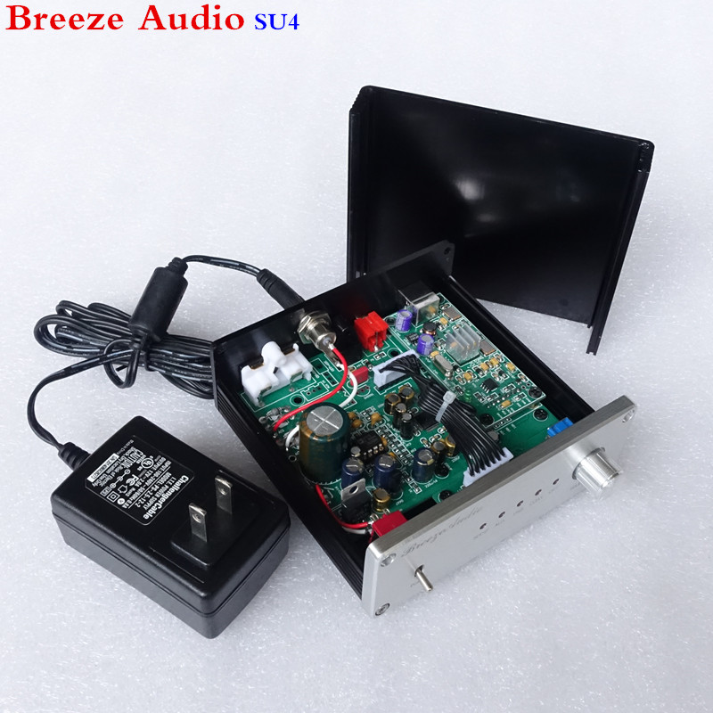 Breeze Audio SU4 decoder AK4490&AK4118 DAC Support coaxial optical USB input RCA output цена