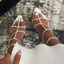 New Design Women High Heels Sandals Narrow Band Gladiator Sexy Shoes For Party Dress Pointed Toe