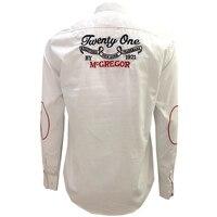 Faconnable Brand Shirts 2018 Spring Eden Fashion Man Long Sleeve Clothing Aeronautica Shirt Solid Color Park