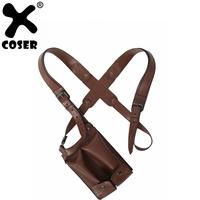 XCOSER Uncharted 4: A Thief's End Game Cosplay Chloe Frazer PU Leather Straps & Holster Props Halloween Cosplay Costume Prop