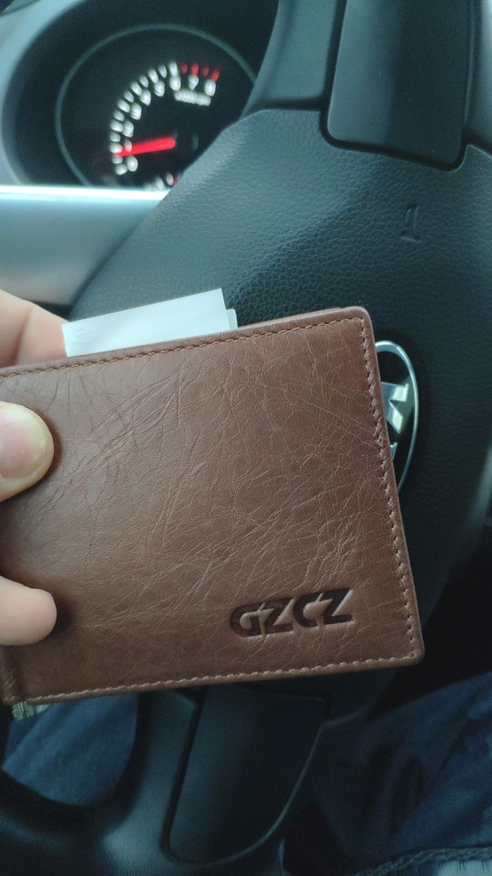 GZCZ Men Women Genuine Leather Money Clips Bifold Male Purse Billfold Wallet Bills Cilp Female Clamp For Money Case Free Engrave photo review