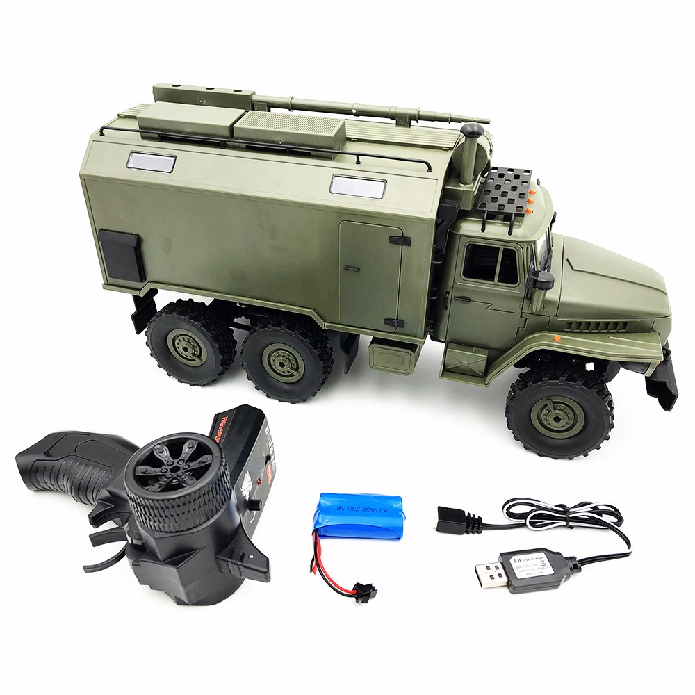 RC Car Military Truck WPL B36 Soviet Ural 1/16 2.4G 6WD Rock Crawler Command Communication Vehicle RTR Boy Toy Auto Army TrucksRC Car Military Truck WPL B36 Soviet Ural 1/16 2.4G 6WD Rock Crawler Command Communication Vehicle RTR Boy Toy Auto Army Trucks
