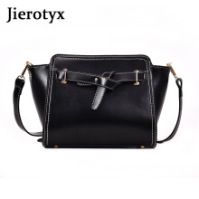 JIEROTYX New PU Leather Women Messenger Bag Plaid Ladies Crossbody Trendy Candy Color Small Flap Drop Shopping Handbag