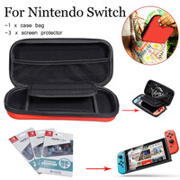 For Nintend Switch Travel Carrying Case Bag Storage Package With 3 Pcs Screen Protector Gamepad Protective