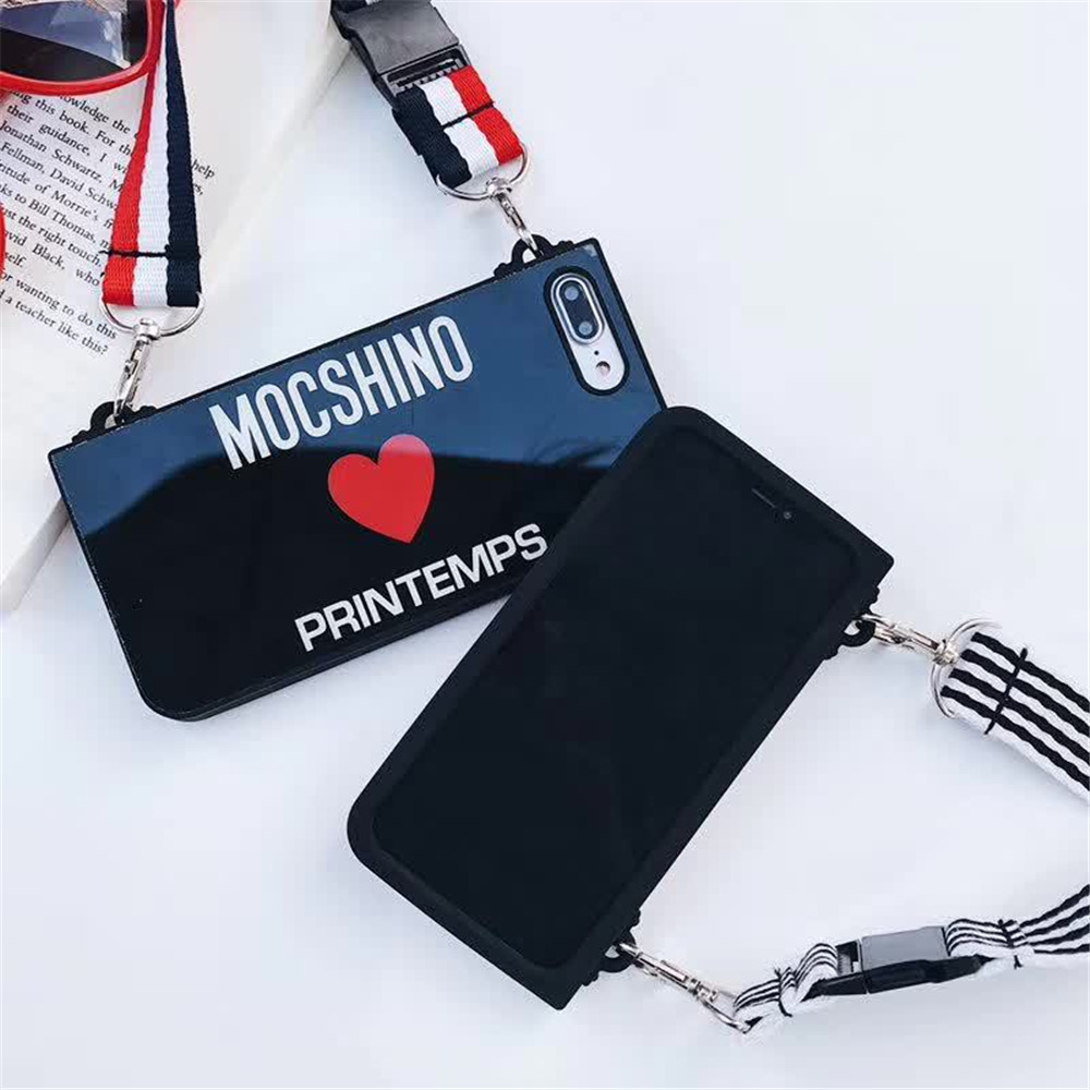 Image 3 - for iphone 6 6s 7 8 x case Silicone Hanging Rope Inclined Chain mobile phone cases-in Fitted Cases from Cellphones & Telecommunications