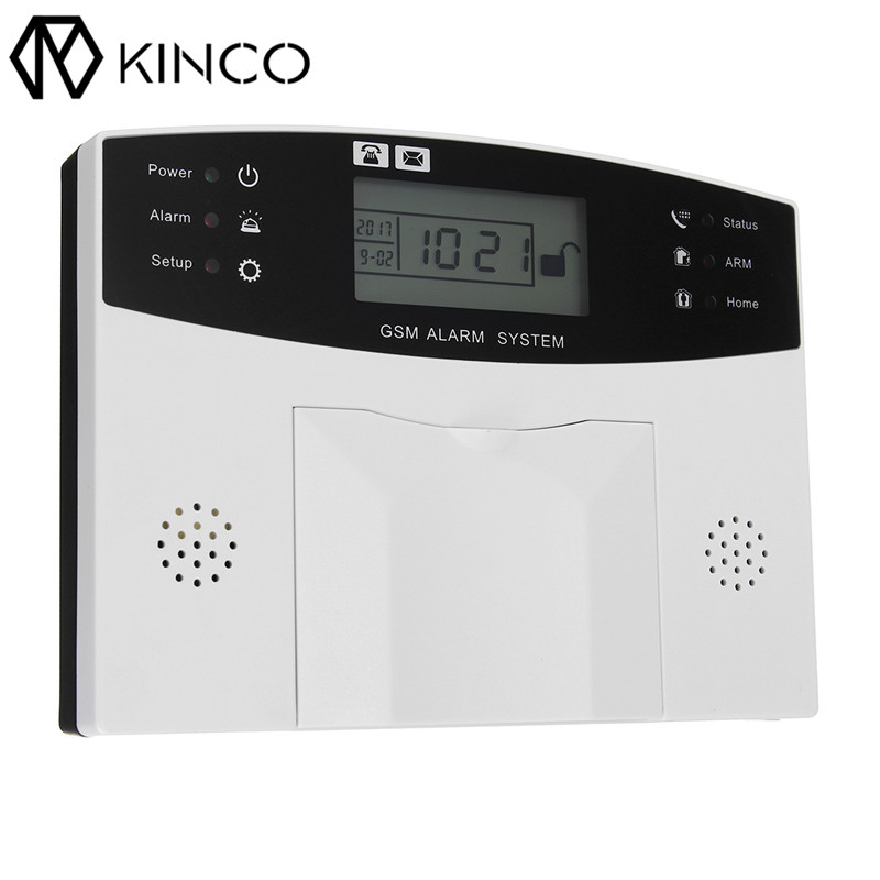 KINCO 110-230VAC GSM Alarm System Wireless LCD GSM SMS Burglar Alarm System Auto Dialer Smart Safe Home Control with Cell Phone ...