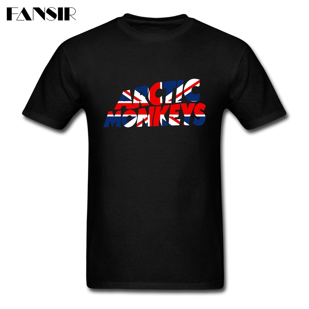 Rock Music Arctic Monkeys British Flag Men T-shirt Homme Tee Shirts Men Short Sleeve O Neck Plus Size Summer Tees For Adult