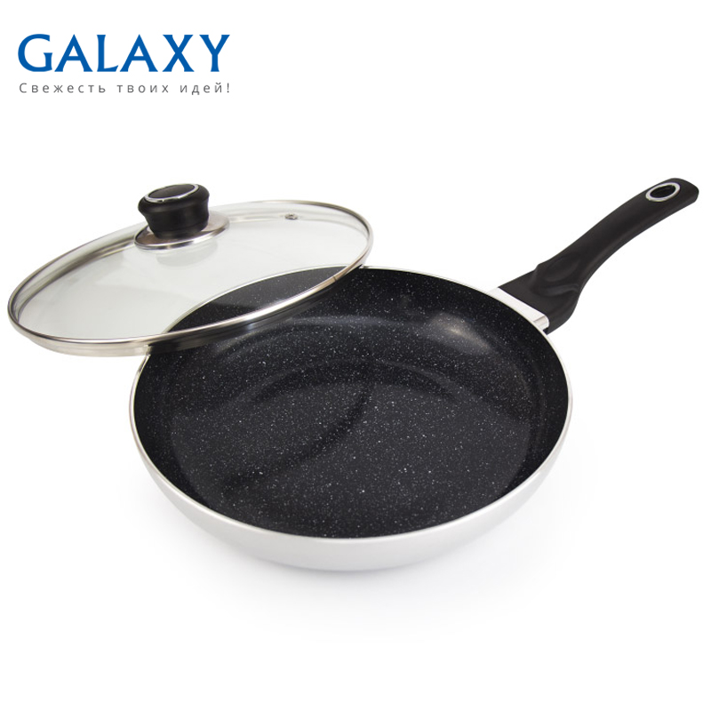 Frying pan with lid Galaxy GL 9818 сковорода galaxy gl 9818