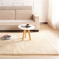 Solid Color Fashion Home Carpet Living Room Area Decor Soft Door Carpets Warm Colorful Bedroom Floor