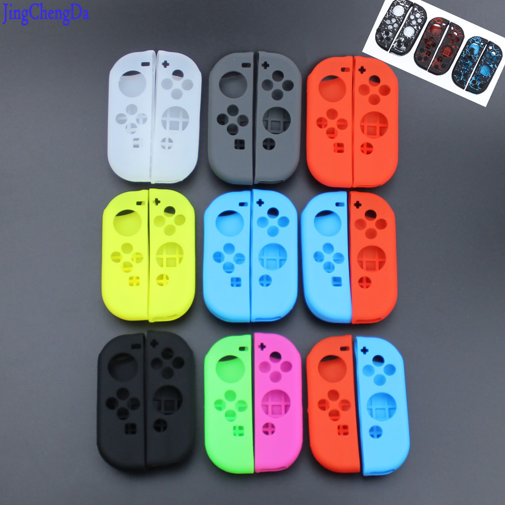 Jing Cheng Da red Green Rose neon yellow Soft cover for Nintend Switch JOY CON Silicone Protective Case nintend JOY-CON цена