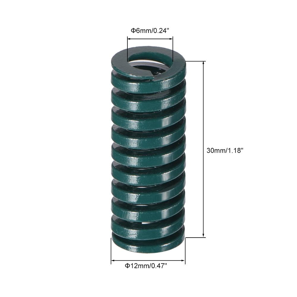 Die Springs OD 10-35mm Extra Heavy Duty Load Brown Mould Spring Length 20-250mm