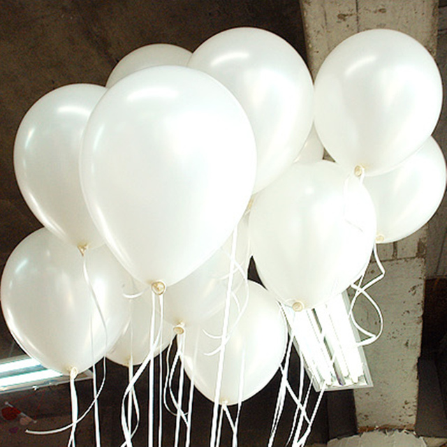White Balloons 10PCS 10inch Pearl Latex Balloons Wedding Decorations Inflatable Air Ball Children Birthday Party Ballon Supplies
