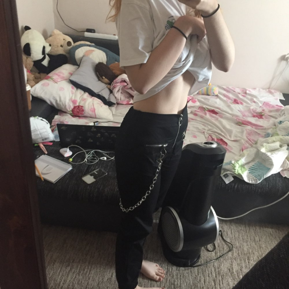 Gothic Harajuku Zipper Streetwear Women Casual Harem Pants With Chain Solid Black Pant Cool Fashion Hip Hop Long Trousers Capris photo review