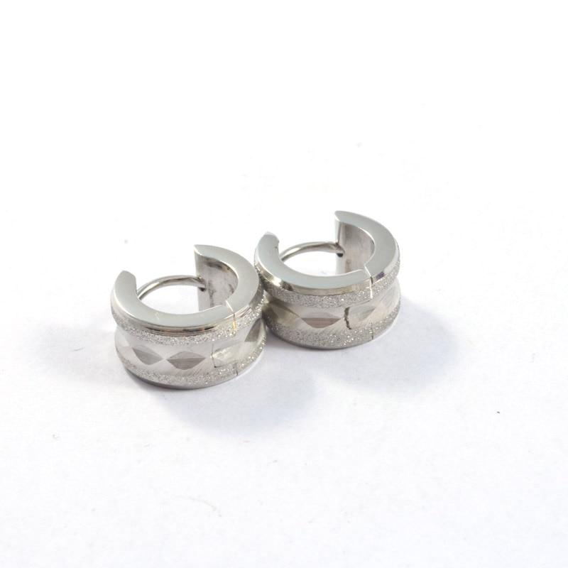 Fashion Punk Small Hoop Earrings Stainless Steel Women Men Wide Huggie Earrings Brincos Jewelry