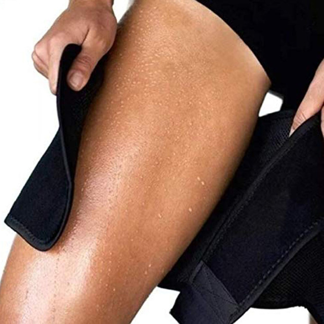 HEYME Men Women Leg Shaper Sauna Sweat Thigh Warmer Slender Slimming Wraps Legs Fat Thermo Neoprene Compress Massage Belt 2