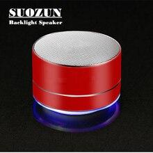 SUOZUN S10 Sem Fio Bluetooth speaker portátil ao ar livre de áudio mini speaker bluetooth suporte TF/USB Car Handsfree Chamada Telefone Mic