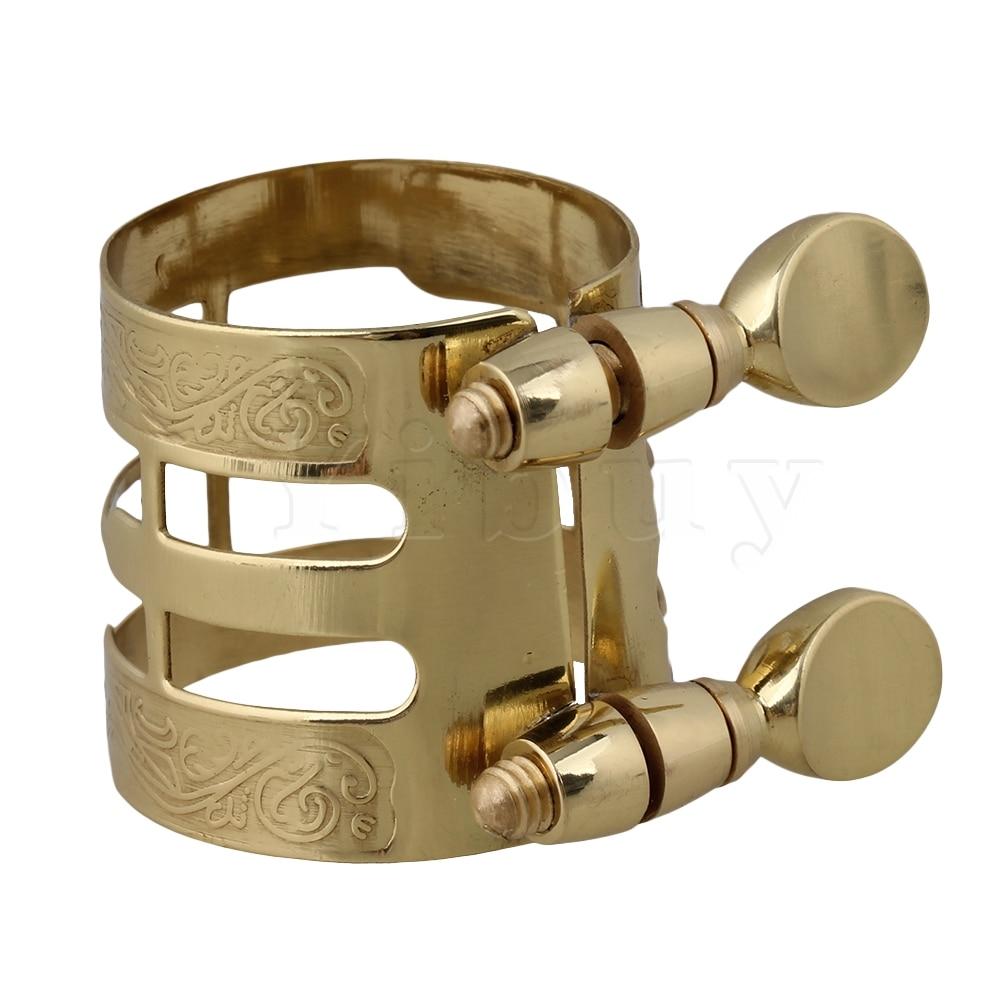 Yibuy Gold Plated Alto Saxophone Boquilla Ligadura Flexibilidad - Instrumentos musicales - foto 1