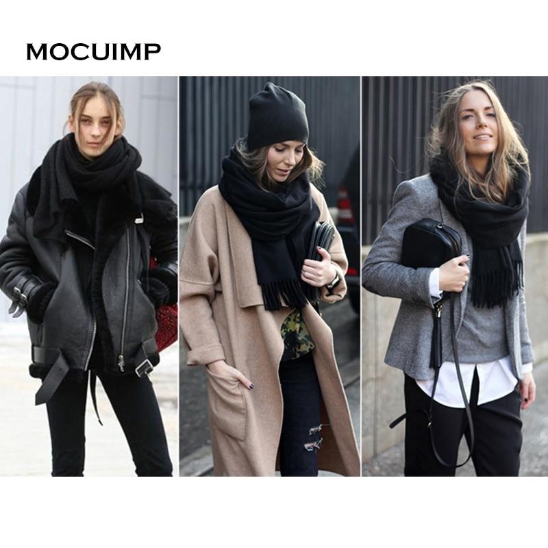 MOCUIMP 2017 Winter Oversize <font><b>Scarves</b></font> Simple Fashion Warm Blanket Unisex Solid Wrap Cashmere <font><b>Scarf</b></font> Shawl Pashmina For Women Men