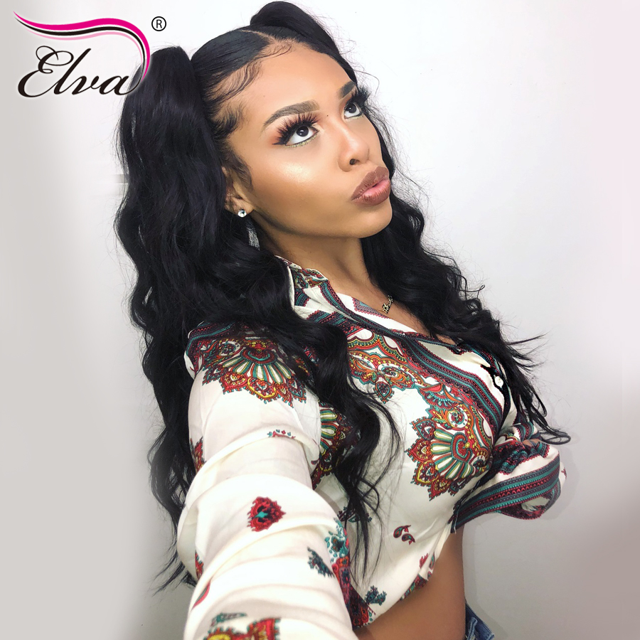 Full Lace Human Hair Wigs With Baby Hair Brazilian Full Lace Wig For Women Body Wave Remy Hair Wig Pre Plucked Elva Hair 10