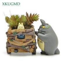 Modern Cartoon Succulent Planter Pot Resin Creative Crafts Cute Totoro Flower Pot Home Decorations Beldam Jiji Couple Cat Vase