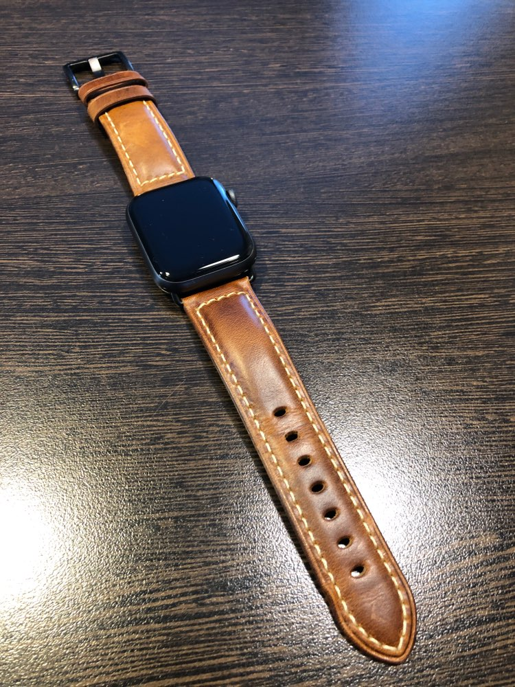 Apple Watch Band genuine leather band strap 44mm, 40mm, 42mm, 38mm, Series 1 2 3 4 colors green, blue, black & brown