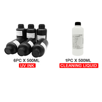 OYfame Imported UV Ink 6color UV ink+Cleaning liquid For UV Flatbed Printer