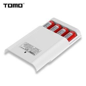 Image 5 - Tomo P4 Pin Lithium Sạc 18650 Công Suất Ngân Hàng Ốp Lưng Màn Hình LCD Hiển Thị Thông Minh Flash Đèn Báo
