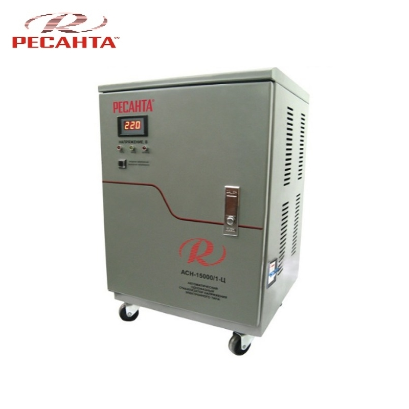 цена на Single phase voltage stabilizer RESANTA ASN 15000/1-C Relay type Voltage regulator Monophase Mains stabilizer Surge protect