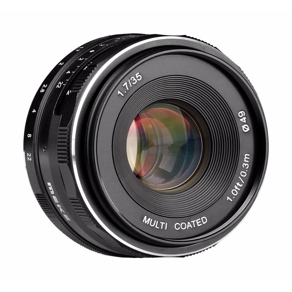 Meike MK-35-1.7 35mm F1.7 Mise Au Point Manuelle Lentille APS-C pour Canon Nikon Sony Fuji 4/3 Montage Mirrorless Caméras