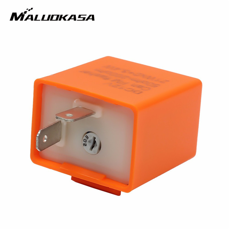 MALUOKASA 12V 2 Pin Adjustable Frequency LED Flasher Relay Turn Signal Blinker Indicator For Motorcycle Motorbike Accessories